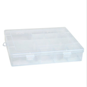 FinalZ 14 Grid Plastic Adjustable Jewellery Box Jewellery Storage Organiser Containers Jewellery Organiser Box with Removable Dividers