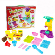 SZJJX Modelling Dough Ice Cream Double Twister Playset Toys Deluxe Plasticine Mud with Bonding Clay and Moulds 8818-A