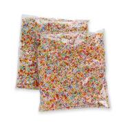 Mini Styrofoam Foam Balls,0.1-0.5cm ,Perfect for Household School Arts Crafts Supplies Slime Making Ornament,Assorted Colours,2 Packs/20000pcs
