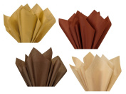 Coffee Chocolate Tan Dark Light Brown Assorted Mixed Colour Multi-Pack Tissue Paper for Flower Pom Poms Art Craft Party Gift Bag Basket Filler