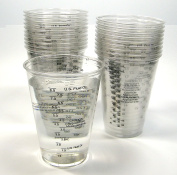 20 240ml Disposable Graduated Clear Plastic Cups for Mixing Paint, Stain, Epoxy, Resin