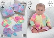 King Cole Baby Double Knitting DK Pattern Cardigan & Sweater Selection Melody DK 3842
