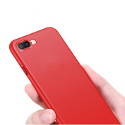 For iPhone 7 Plus Case [14cm ], Gotd New Red Silicone Soft TPU Protective Case Cover for iPhone 7 Plus