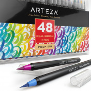 Arteza Real Brush Pens - 48-Colours - Watercolour Markers -