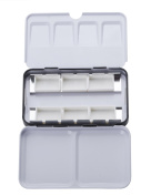 MEEDEN Empty Watercolour Tins with 6 Pcs Full Pans