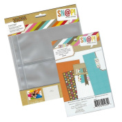 Bundle of 10 SNAP Simple Stories 4x6 Pocket Pages with 24 4x6 Double Sided SN@P Months Cards and 4.6mFancy That' Love Themed Rub-Ons