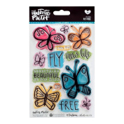 DaySpring Inspirational Fly Free Clear Stamp