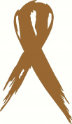 STCF Gold childhood cancer awareness Ribbon Rubber Stamps wood stamps rubber Stamps rubber-stamp