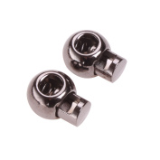 Usew Pack of 10 Metal Toggle Ball Spring Stop Single Hole String Cord Locks [5mm Cord]