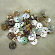 Funnytoday365 100Pcs Lot 10Mm Round Shell Sewing Buttons 2 Hole Button Natural Shell Buttons Colour Japan Mother Of Pearl Mop