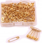 Shapenty Mini Metal Clothing Accessories Trimming Fastening Clip Button Tool Tiny Sewing Craft Safety Pins, 18x5mm, 160PCS