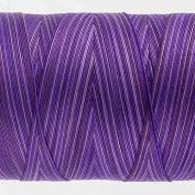 WonderFil Specialty Threads Tutti, Blueberry, 50wt double gassed Egyptian cotton, in variegated colours