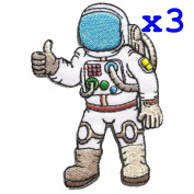 Pack of 3 Astronaut - A journey to space Iron on Patches - 6Patch