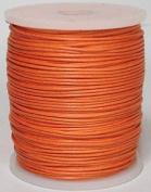 Maine Thread - Blue Bird 1mm Deep Orange Polished Braided Cotton Cord. 100 metres per spool. Includes 1 spool.