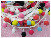 YYCRAFT Rainbow C Pom Pom Ball fringe Trim Ribbon Sewing
