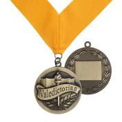 Valedictorian Award Medal on Gold Grossgrain Ribbon