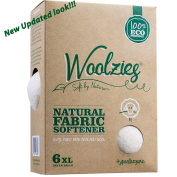Woolzies, the Original Highest Quality Wool Dryer Balls Set of 6 Xl ,Best Natural Fabric Softener, Gift Set
