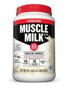Muscle Milk Genuine Protein Powder, Natural Vanilla, 32g Protein, 2.47 Pound