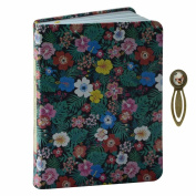 BUYITNOW PU Leather Cover Floral Notebook Daily Weekly Monthly Planner Calendar Pocket Journal