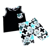 Internet Newborn Baby Infant Boys Girls Outfit Vest Tops+Shorts Clothes for 1-3 Years Old