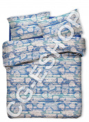 Duvet Cover Set Single Queen-sized Double Hearts Tyrol Blue Single