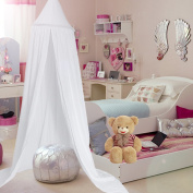 Yosoo Princess Dome Kids Canopy Bed - Easy to Hang - Cotton Children Room Play Tent Curtains Baby Mosquito Netting for Indoor Outdoor Playing Reading Height 2.4M with Dreamcatcher Decoration