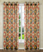 Ellis Curtain Tuscany Lined Grommet Panel, 130cm x 160cm , Red