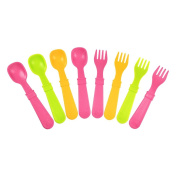 Re-Play 8 Count Utensils, Pink, Green, Sunny Yellow