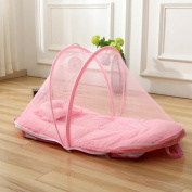 Blue / Pink Portable Folding Baby Nets Super Soft Baby Mosquito Nets (Mosquito Net + Pillow + Cotton Pad) 92*48*48cm