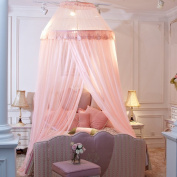 Dome Mosquito Nets Children's Mosquito Nets Are Suitable For Any Bed(Light Pink / Beige)