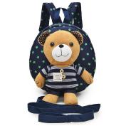 JYSPORT Toddler School Bag Safety Harness baby Backpack Sidekick Rucksack Children Shoulder Bag with Detachable Soft Plush Toy