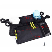 LA HAUTE Stroller Organiser Storage Bags Baby Nappy Food Drink Bottle Holder Pushchair Accessories