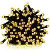ApexPower Solar Powered String Lights Outdoor Christmas Light 200 LED 22m 8 modes Decorative Lighting for Patio Lawn Landscape Fairy Garden Home Wedding Holiday Party Xmas Tree