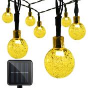 Vmanoo Christmas Solar Powered Globe Lights,30 LED (6m) Globe Ball Fairy String Light for Outdoor, Xmas Tree, Garden, Patio, Home, Lawn, Holiday,Decor