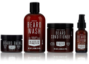 Scotch Porter - Beard Collection. Men's Beard Kit with Premium Beard Wash, Conditioner, Balm, and Smoothing Serum