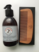 GRIZZLY ADAM Beard Wash Shampoo 200ml and Beard Comb - Both Designed Specifically For Regular Beard Maintenance