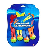 4 Dive Ball Streamers Swimming Pool Toys Kids Fun Games Balls