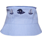 Baby & Toddler Stripy Blue Boats Sun Hat