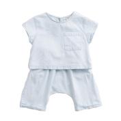 marc janie Little Boys' Cotton Loose Denim T-shirts and Short Sets