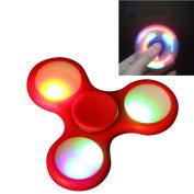 LED Light Tri Fidget Spinner EDC ADHD Focus Toy Ultra Durable High Speed Hybrid Ceramic Bearing 1-3 Min Spins Non-3D Printed
