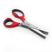 ELEPHANT DANCING Herb Scissors Kitchen Shears and Multi Purpose Scissors, Red