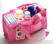 Travel Outdoor Portable Baby Nappy Nappy Storage Insert Organiser Bag Tote,Pink