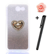 Samsung Galaxy J7 2017 Case,TOYYM Slim Rubber TPU Case Cover with 360 Degree Ring Grip Holder Stand for Galaxy J7 2017,3D Bling Bling Diamond Design Back Protective Silicone Shockproof Cover for Samsung Galaxy J7 2017,Colour#7