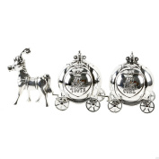 SILVER PLATED MY FIRST TOOTH CURL CARRIAGE CHRISTENING GIFT KEEPSAKE BABY NEW