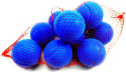 10 Foam Tennis Ball 70mm Blue Indoor Outdoor Football Soccer Fun Sport Soft Toy Play for Kids Kick Catch Game
