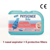 PHYSIOMER Baby Nasal Aspirator + 5 Protective Filters No Bisphenol A No Phtalates Ce Marked