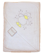 Baby Boys Girls Cute Little Duck White Hooded Bath Towel