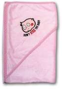 Dont Kiss the Baby Baby Towel Pink