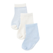 Boody Baby Socks, Chalk/Sky, Pack of 3, 12-24 Months