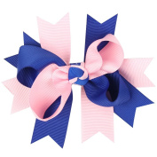 Clest F & H Double Bubble Bow Hairpins Boutique Baby Girls Grosgrain Ribbon Bow with Clips Cute Baby Kids Hair Accessories